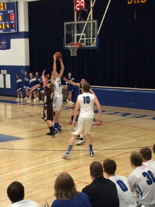 Stanley Blue Jay Kaedyn Hanson (25) gets the ball in the post