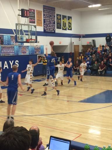 Blue Jay Logan Aadnes elevates over a defender