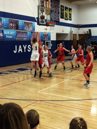 Lacey Meiers shoots for the Blue Jays