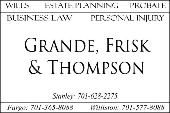 Grande Frisk & Thompson Ad