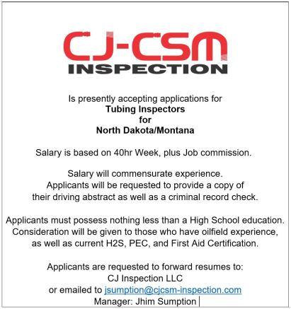 CJ Inspection Ad