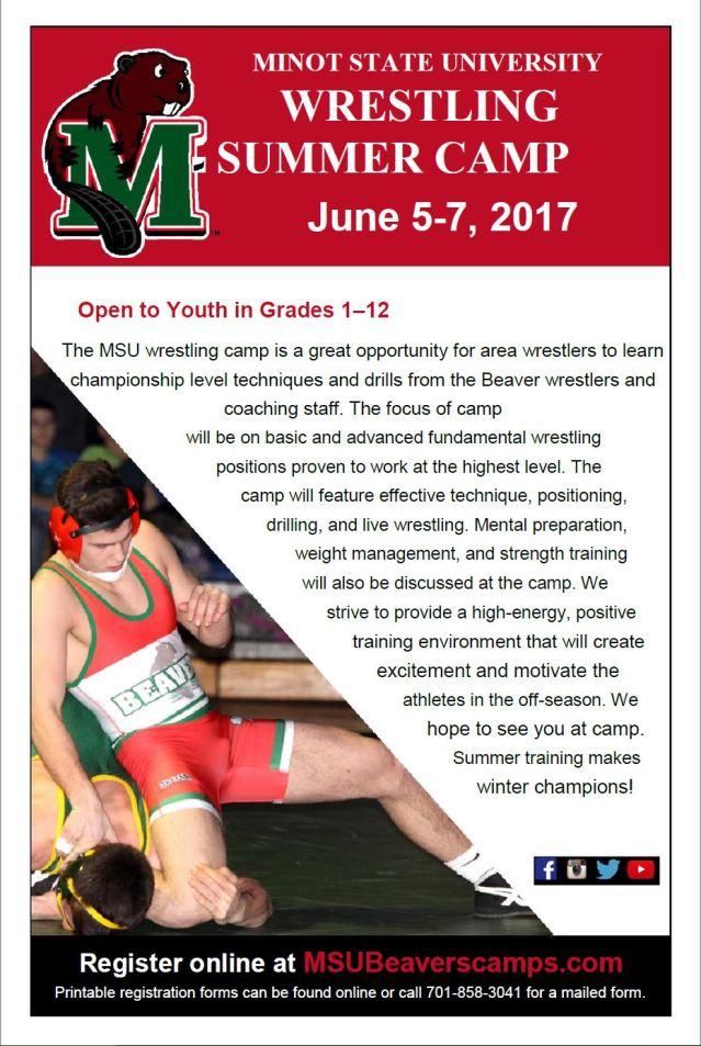 Minot State Wrestling Camp Flyer