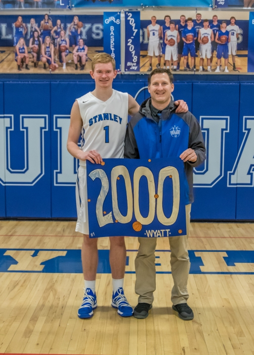 Wyatt Hanson and Kory Anderson (2000th Point)
