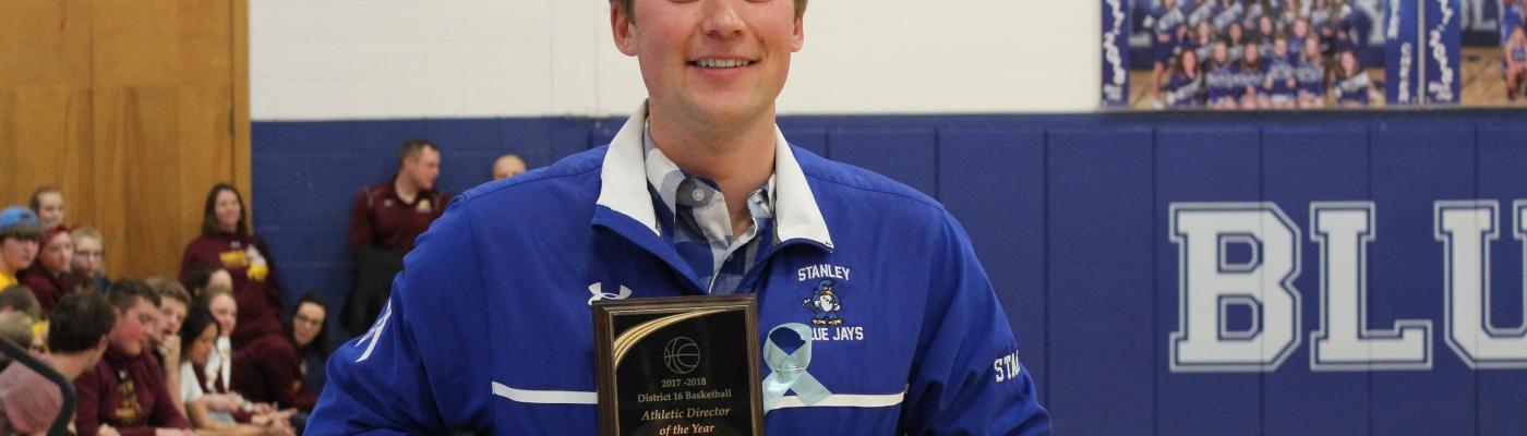 Stanley Athletic Director Brooks Stafslien
