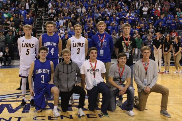 North Dakota Class B Basketball All-State Tournament Team (Photo by Ian Grande)